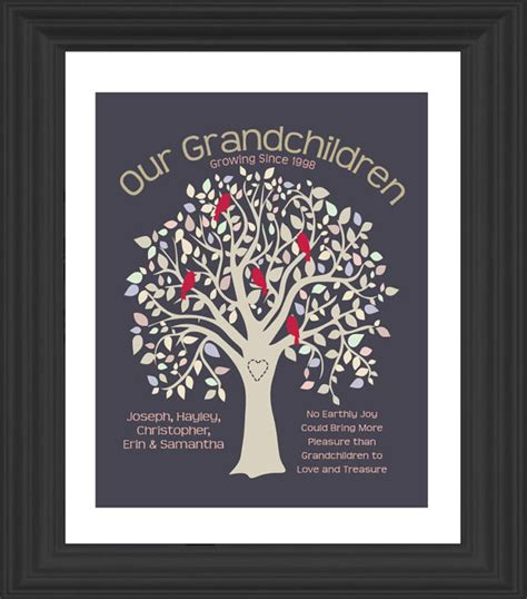 personalized grandparents gift grandma grandpa by
