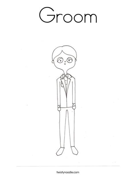 And Groom Coloring Pages groom coloring page twisty noodle