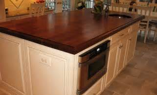 walnut wood kitchen island countertop with sink by