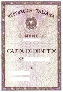 italian card template the italian identity card or la carta d identita italiana