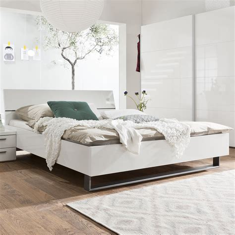 bett 180x200 bett attimi schlafzimmerbett wei 223 hochglanz lackiert