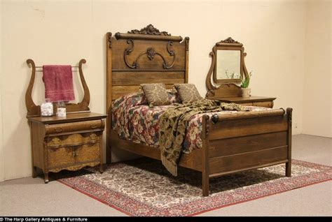 bedroom sets vintage oak victorian 1900 antique 3 pc bedroom set full size