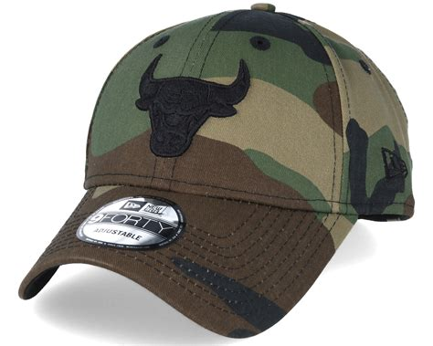 bull new era chicago bulls nba camo 9forty adjustable new era keps