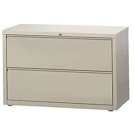 workpro lateral file cabinet workpro 42 w 2 drawer steel lateral file cabinet putty by