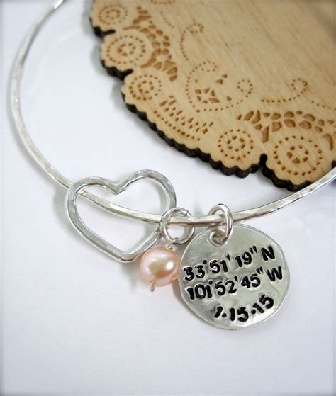 latitude and longitude bracelet with date and