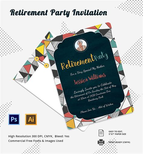 retirement invitation templates free printable hatch urbanskript co