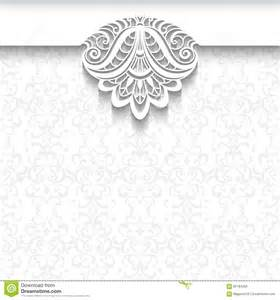 wedding picture templates white lace background wedding invitation template stock