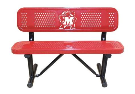 logo bench logo bench standard custom perforated logo bench