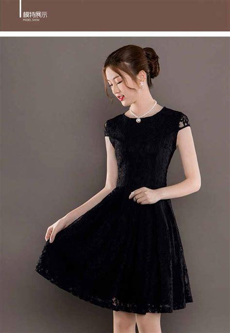 Dress Pesta Brukat Lace Import dress pesta brokat lengan pendek 2018 model terbaru