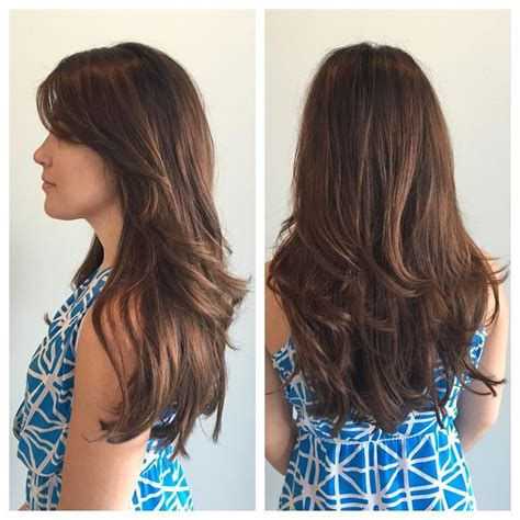 long layered haircut blow dry with lots of volume long straight hair with lots of layers www pixshark com