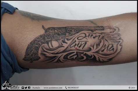 tattoo revolver meaning gun tattoo meaning 7 together with top 18 gun tattoo