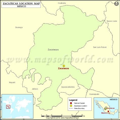 map of mexico zacatecas where is zacatecas location of zacatecas in mexico map