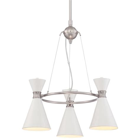 George Kovacs Chandelier George Kovacs Conic Brushed Nickel Mini Chandelier P1823 44f Destination Lighting