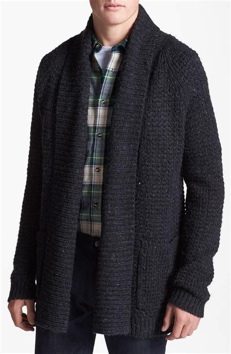 mens drape cardigan topman open drape shawl cardigan in black for men lyst