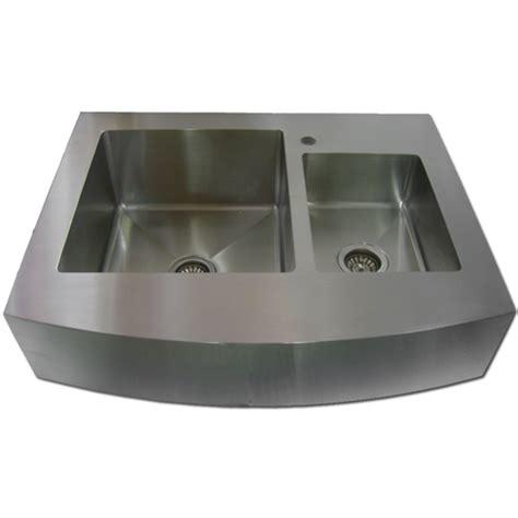 36 stainless steel zero radius kitchen sink curve apron