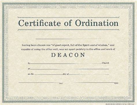 ordination certificate for deacon search results