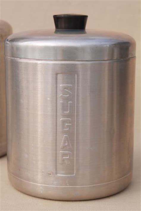 vintage style kitchen canisters vintage spun aluminum canisters mid century retro kitchen