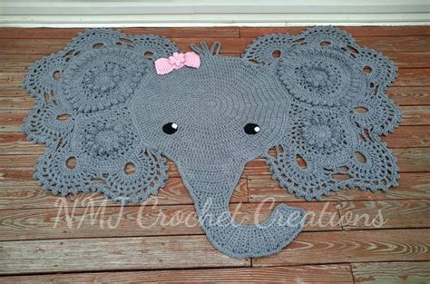 Crochet Elephant Rug Buy by Crochet Elephant Rug By Nmjcrochetcreations On Etsy
