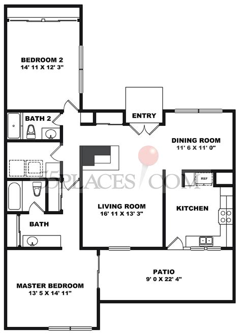 rossmoor floor plans sierra floorplan 1444 sq ft rossmoor 55places com
