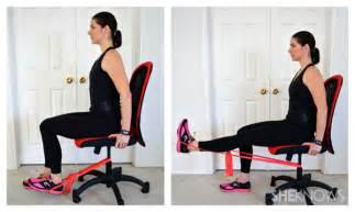 Office Chair Exercise Bands Leg Exercises You Can Do From Your Office Chair