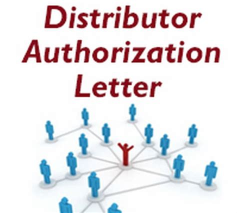 authorization letter distributor authorization letter