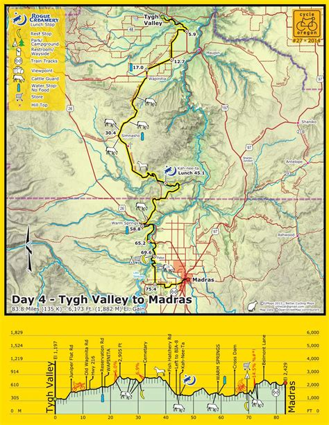 map of oregon day cycle oregon day 4 tygh valley to madras bikeportland org