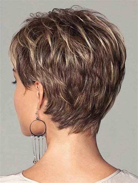 rear view hairstyles gallery short hairstyles with bangs front and back view short