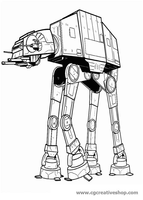 imperial walker coloring pages at at guerre stellari disegno da colorare