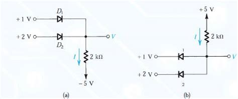 diode circuits in parallel logic gates diodes in parallel circuit analysis electrical engineering stack exchange
