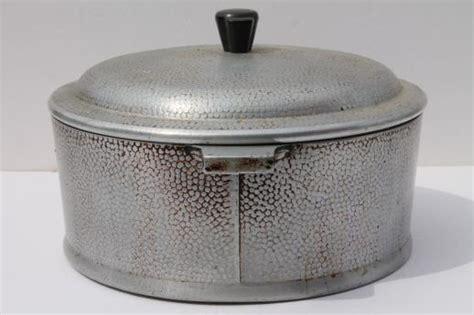 Oven Aluminium Hock No 2 1950s vintage kinney flavor seal aluminum cookware oven 4 qt pot w lid