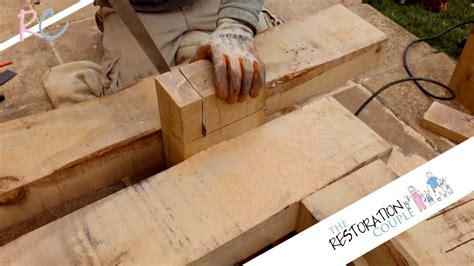 build  simple bench  oak sleepers youtube