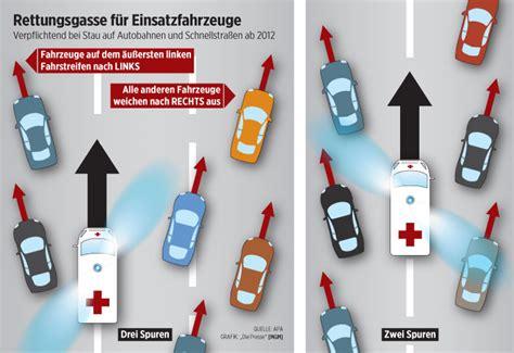 Rettungsgasse Aufkleber Lkw by Rettungsgasse R 252 Cksicht Im Autobahn Stau