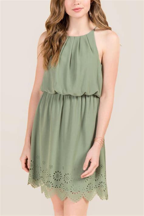 Cut In A Line Dress maite laser cut hem a line dress s