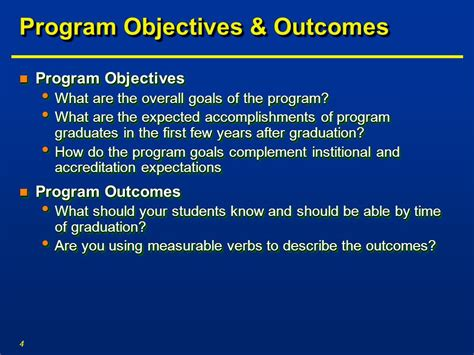 Course Objectives And Outcomes Mba by Developing An Effective Assessment Plan Ppt