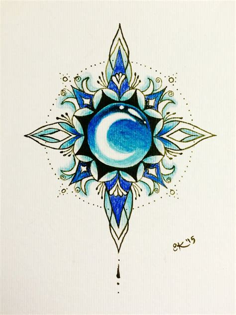 mandala moon tattoo arctic moon mandala by soundstar on deviantart