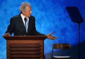 Clint Eastwood Chair by Clint Eastwood S Empty Chair At Rnc Sparks Buzz