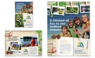 kids summer camp flyer amp ad template design
