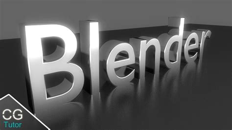 tutorial blender text blender text tutorial make cool metallic 3d text in