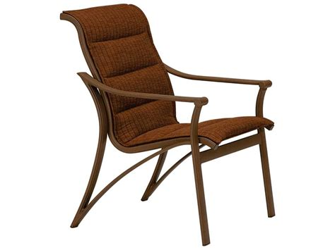 Sling Chair by Tropitone Corsica Padded Sling Aluminum Arm Dining Chair