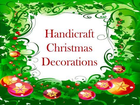 ppt handicraft christmas decorations powerpoint
