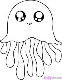cute jellyfish coloring pages