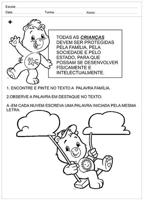Atividades Direitos das Crianças para imprimir: Series