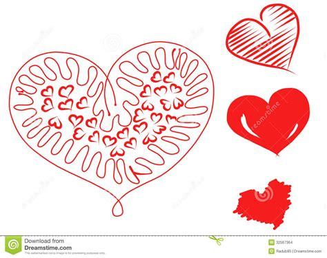 imagenes de corazones dibujados a mano corazones dibujados mano imagenes de archivo imagen