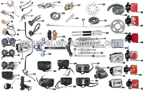 Spare Part Motor Yamaha Fizr high performance cg125 motorcycle spare parts buy