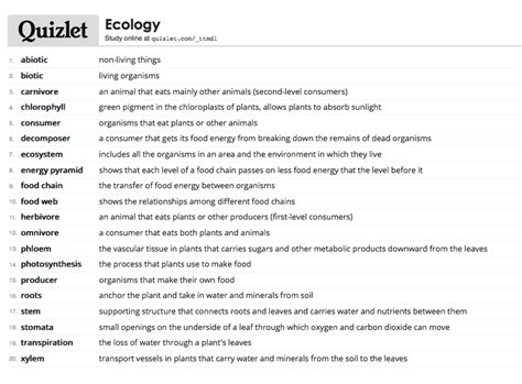 organizational pattern quizlet quizlet vocabulary for quot ecology quot students may log into