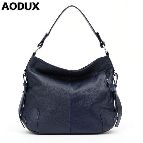 Natasia Ali Bronze Metallic Tote Bag by Aodux Genuine Leather Shoulder Bags
