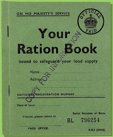 rationing book template the national archives learning curve home front