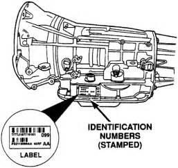 Dodge Transmission Identification Numbers Repair Guides Transmission Identification
