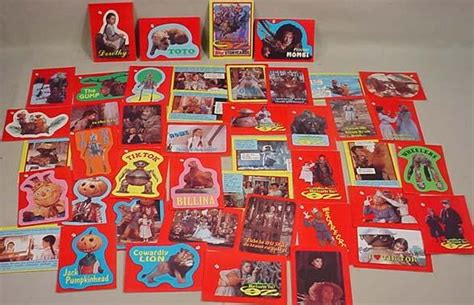 Return A Gift Card - lot of 1985 return to oz trading cards