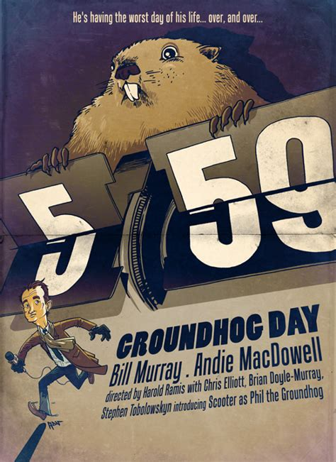 groundhog day poster friday one sheet february blues groundhog day